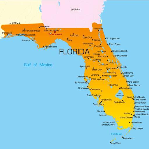 Pixwords Kuva Valtio Maa Yhdysvallat Florida Kartta Ruslan